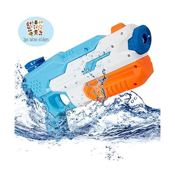 AYUQI Pistole ad Acqua Bambini, Giocattoli Estivi con capacità con 600MLCapacità, Water Squirt Gun Raggio di Tiro Lungo… 1 spesavip