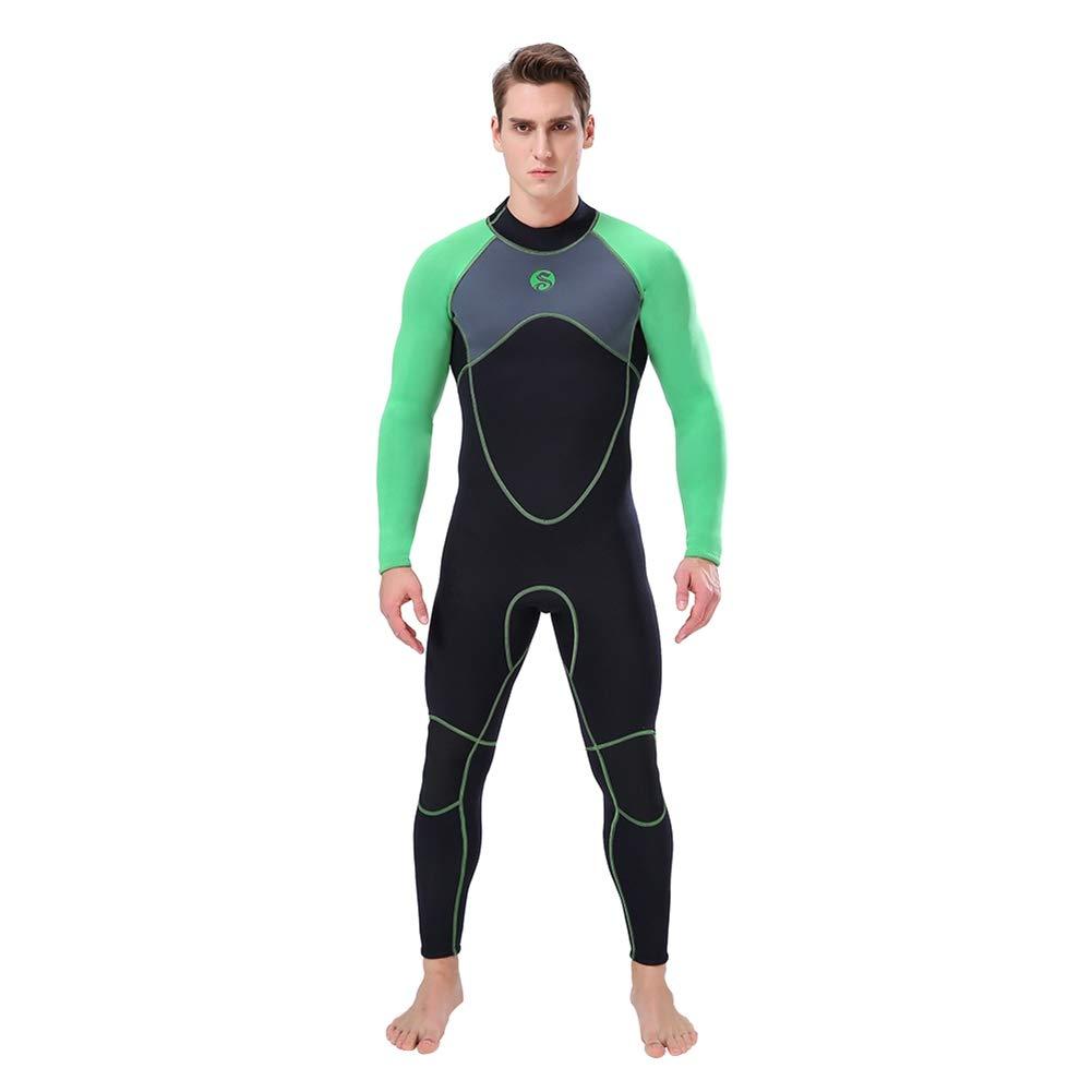 Vert XL Ohhome Combinaison de plongée pour Homme Combinaison de plongée Rash Guards Adulte Une pièce Manches Longues Prougeection UV Imperméable Imperméable Thermique Maillot de Bain
