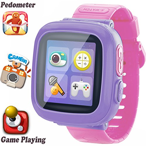 Kids Game Smart Watch [AR Enhanced Edition] for Girls Boys Wristwatch with Camera Pedometer Timer Alarm Clock Fitness Tracker Gifts for 3-12 Years Children Summer Outdoor Learning Toys School Travel