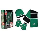 CFL Saskatchewan Roughriders Adult Hat Gloves and Scarf Boxed Set