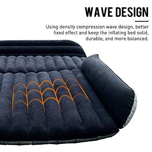 Berocia SUV Air Mattress, Thickened Car Bed Inflatable Home Air Mattress Portable Camping Outdoor Mattress, Flocking Surface, Fast Inflation (Mattress 1)