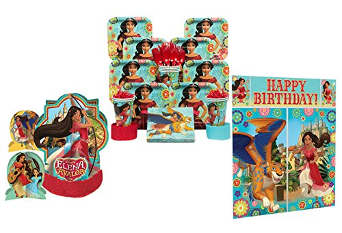Elena of Avalor Birthday Party Supplies - Tableware and Decorations (Serves 8 People) - Party in a