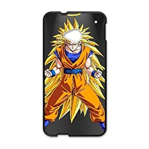 HTC One M7 case,HTC One M7 Cell phone case Black son-goku-dragon-ball-z-anime-mobile-PUU4910547
