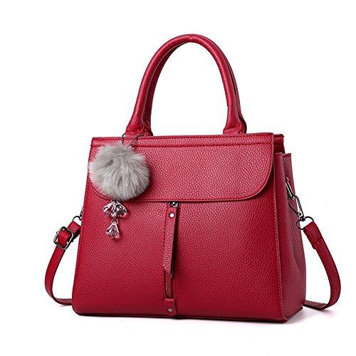 (G-AVERIL) 2018 New Wave Packet Messenger Bag Ladies Handbag Female Bag Handbags for Women Red Wine