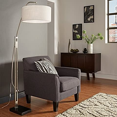 Great For Living Room Polished Chrome Arched Adjustable Floor Lamp - Hubbardton Forge Bronze Floor Lamp