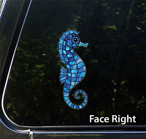 Seahorse - Stained Glass Style - Vinyl Decal for Car | Truck | Outdoor Use - Copyright © 2016 YYDC (2