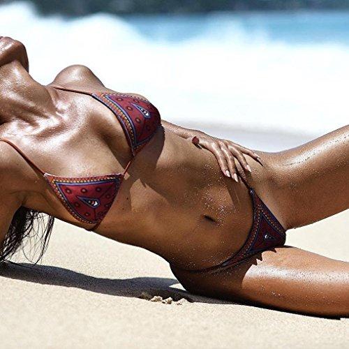 SHOBDW Mujer Atado Con Ccorrea Dos Piezas Traje De Baño Bikini( Contiene pecho Pad)