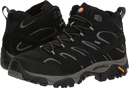 Merrell Men's Moab 2 Mid GTX Walking Boots Black 10.5 D(M) (Mid Walking Boots)