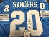 Barry Sanders Signed Autographed Detroit Lions Custom Jersey Schwartz Sports COA & Hologram