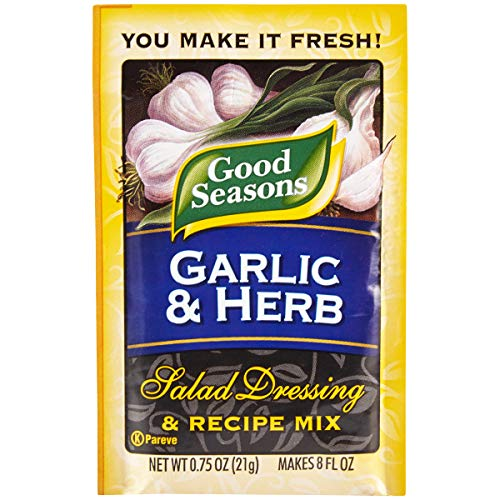 (Good Seasons Garlic & Herb Salad Dressing & Recipe Mix (0.75 oz Packets, Pack of 24))