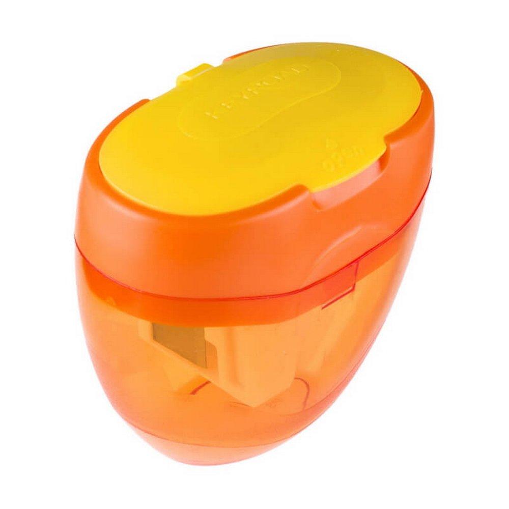 Dreifachspitzdose, Dosenspitzer Doppelspitzdose Bleistifte, Farbstifte und Jumbo Buntstifte (8+11+16 mm) Orange. Keyroad