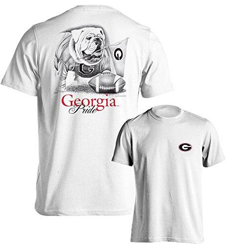 Georgia Bulldogs UGA Pride Youth Short Sleeve T-Shirt (White, (Pre Short Sleeve Graphic T-shirt)