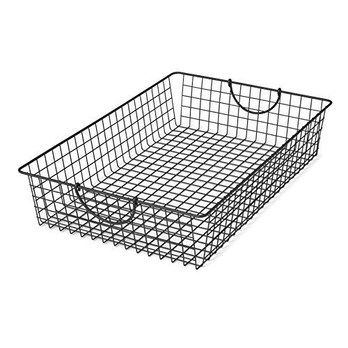 Underbed Cart - Spectrum Diversified Stowaway Basket, Under Bed Storage, Large, Industrial Gray