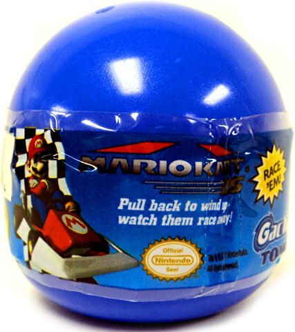 Mario Kart DS Gashapon 1.5 Inch Pull Back Racers Blind Pack Blue Bubble Pack