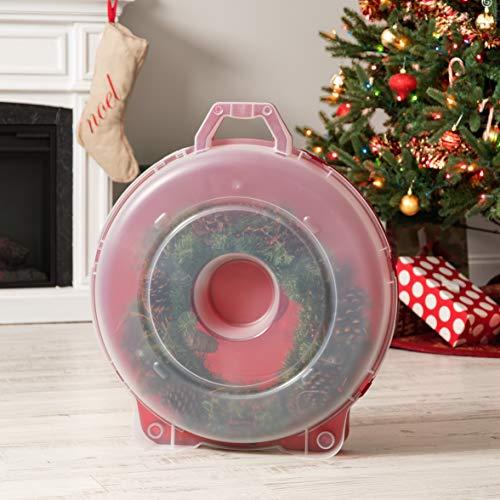Red 2 Pack WB-24 24 Holiday Wreath Box Inc IRIS USA 24-Inch