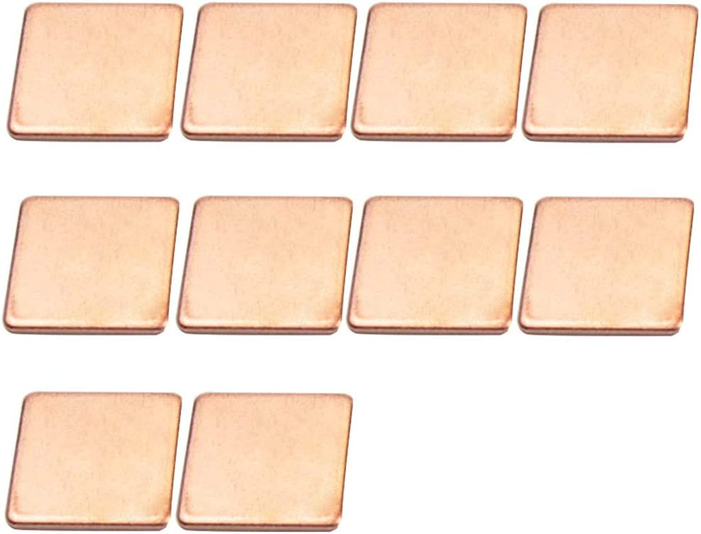 fayle Heat Sink 10pcs GPU Sth Graphics Card Dissipation Sheet Computer CPU Thermal Pad Cooler Laptop Copper Shim Mini 0.5mm