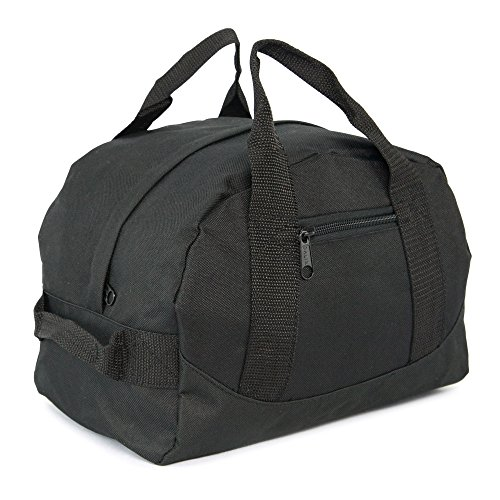 mini two tone duffle bag