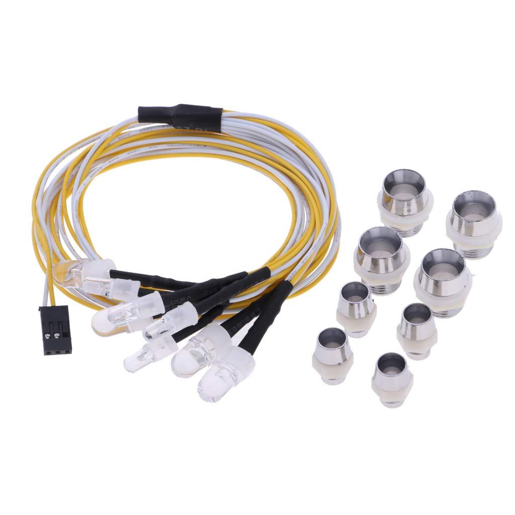 P Prettyia Accessori per Lampade a LED per Lampade 1 10 RC Auto HPI Traxxas