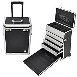 Amazon Com Aw Pro Rolling Jewelry Makeup Case W Drawers