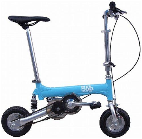 Bag&bike(バッグアンドバイク)ノーパンクタイヤ 発泡エラストマー マイクロエアコア(e-コア)を使用携帯折り畳み自転車NP08020Bオールアルミフレーム専用輪行バッグ付き B00BCDU4RI