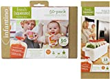 INFANTINO BUNDLE - FRIDGE AND FREEZER SLEEVE AND 50 POUCH REFILL PACK - 2 ITEMS SUPPLIED (Dispatched From UK)