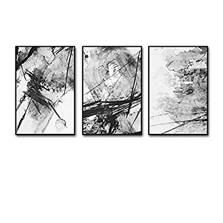 Frame Global- 3 Multi mural Set Solid wood Abstract art Triptych ...