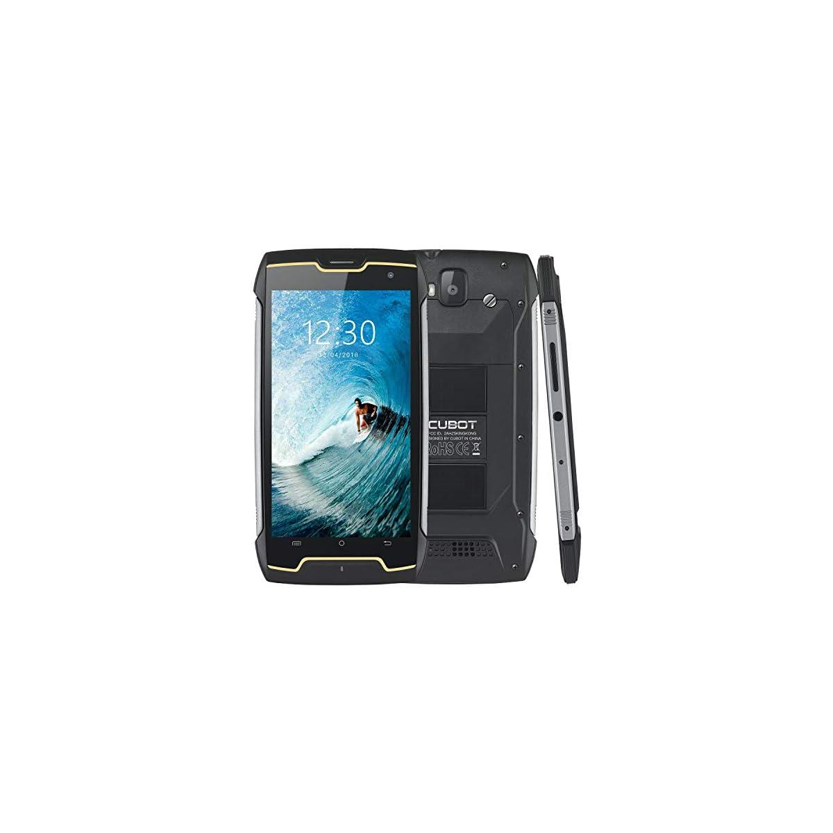 CUBOT King Kong (2018) IP68 Waterproof Rugged Smartphone Unlocked, 4400mAh  Big Battery, 3G WCDMA Dual-SIM, Android 7 0, 2GB RAM+16GB,Compass+GPS,