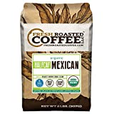 Organic Mexican Half Caff Coffee, Whole Bean Bag, Fresh Roasted Coffee LLC. (2 LB.)