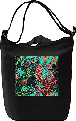 Jungles Nature Pattern Borsa Giornaliera Canvas Canvas Day Bag| 100% Premium Cotton Canvas| DTG Printing|