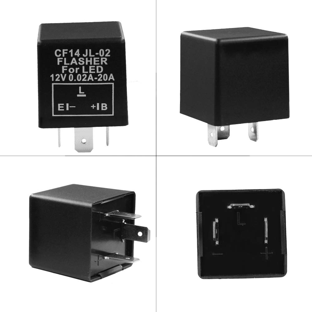 HUIQIAODS 4-Pin EP29 EP29l EP29N Electronic LED Flasher Relay Fix For LED Turn Signal Bulbs Hyper Flash Fix