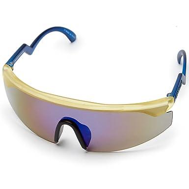 0c248d148d Happy Hour Accelerators Jeremy Leabres Sunglasses - Gold Blue Frost -  Yellow -  Amazon.co.uk  Clothing
