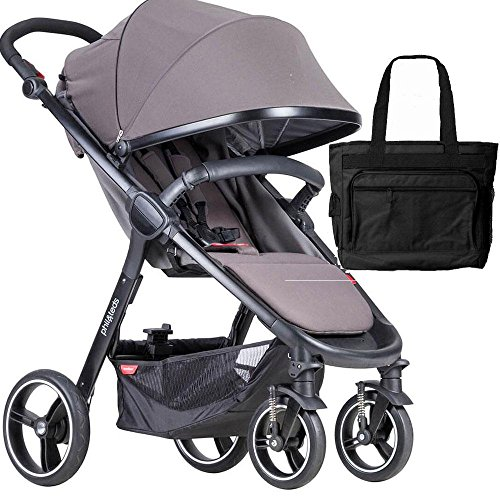 (Phil Teds Smart Buggy Baby Stroller with Diaper Bag - Graphite)