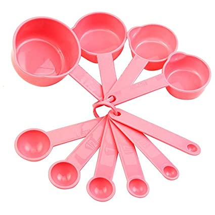 Ordinaire 10Pcs Baking Cup Spoon Set Tablespoon Measuring Tool Pink Kitchen Coffee Cooking  Tools