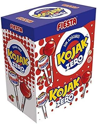 FIESTA Kojak Sin Azúcar Caramelo con Palo Sabor Cereza - Caja de 70 unidades: Amazon.es: Alimentación y bebidas