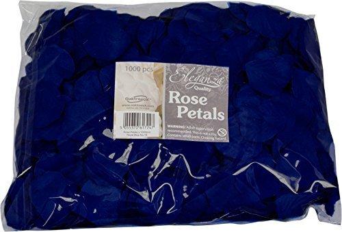 Eleganza 617254 Navy Blue Rose Petals Fabric Confetti (Bulk Bag of 1000 Petals)