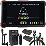 Atomos Ninja Flame 7'' Monitor Recorder, Battery, Charger, Caltar 7'' Articulating Magic Arm, HDMI A-D Basic 3' Cable and A-C Basic 3' Cable