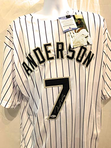 Tim Anderson Chicago White Sox Signed Autograph Custom White Jersey JSA Certified Chicago White Sox Autographs