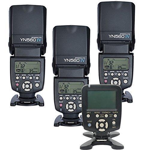 Yongnuo 560tx / C + 560iiix2pcs + 2 x Giftバッテリーケースキットワイヤレス手動フラッシュコントローラ+手動フラッシュSpeedlite Light 3x YN560 IV +1x560TX  3x YN560 IV +1x560TX for N B015F1KAV2