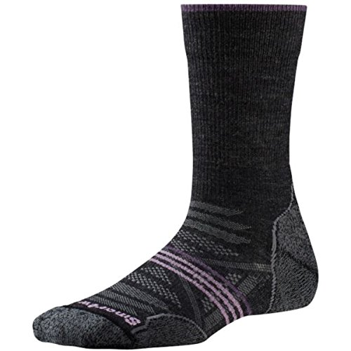(SmartWool Women's PhD Outdoor Light Crew Socks (Charcoal) Medium)