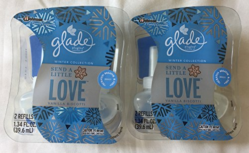 4 Glade Plugins Scented Oil Refills Holiday Send Love Pure