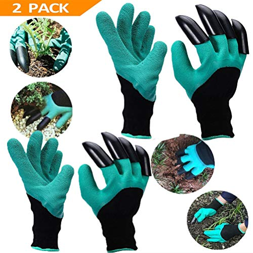 YTH Garden Gloves with Claws, Great for Digging Weeding Seeding poking -Safe for Rose Pruning -Best Gardening Tool -Best Gift for Gardeners (Single Claw)