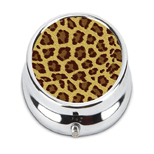 CHEETAH PRINT ANIMAL Custom stainless steel Pill Case Box durable Decorative box (09 Cheetah)
