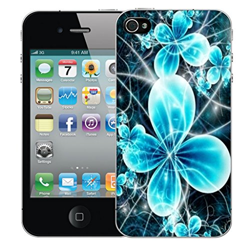 Mobile Case Mate iPhone 4s Silicone Coque couverture case cover Pare-chocs + STYLET - Futuristic Flower pattern (SILICON)