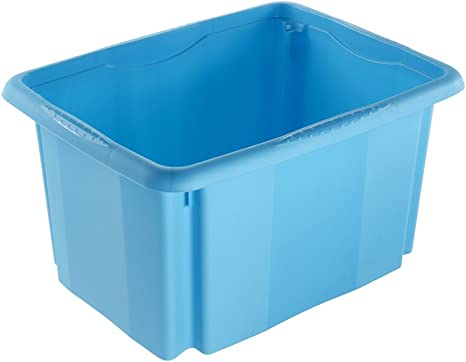 keeeper Caja de Almacenaje con Sistema de Apilado, 38 x 28,5 x 20,5 cm, 15 l, Emil, Azul: Amazon.es: Hogar