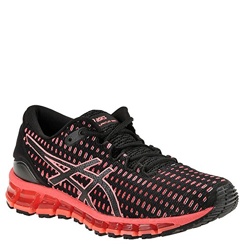 ASICS Womens Gel-Quantum 360 Running Shoe Shift Black/Flash Coral/Black Size 8.5