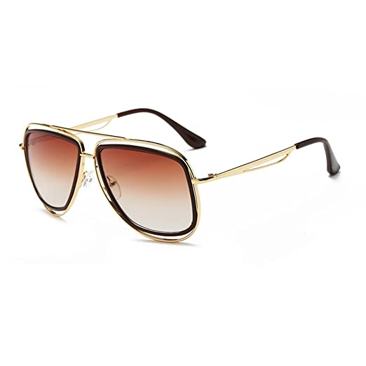 Bobury Donne Retro Occhiali da sole rotondi Lady cavit? del metallo della montatura degli occhiali da sole UV400 Eyewear AXz89Lv5