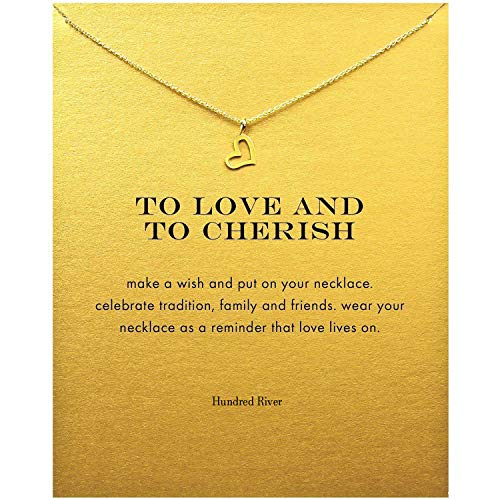 Hundred River Friendship Clover Necklace Unicorn Good Luck Elephant Cross Necklace with Message Card Gift Card ... -