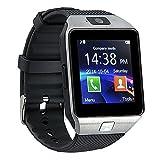 Buyee Dz09 Smartwatch Smart Card reloj pulsera Smartwatch con podómetro cámara anti-robo para Iphone, Samsung, Huawei y teléfonos Android (plata)