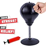 IDABAY Desktop Punching Ball Stress Relief Decompression Relaxation Boxing Ball with Strong Suction Cup for Adults Kids in Home Office