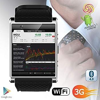 Amazon.com: Tiean DM98 Bluetooth 3G Android Smart Watch SIM ...